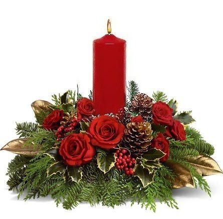 DECORAZIONI NUZIALI MATRIMONIO - invernale/natalizio -centrotavola 4
