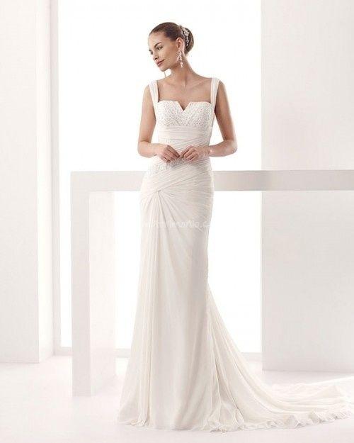 abito da sposa, stile scivolato