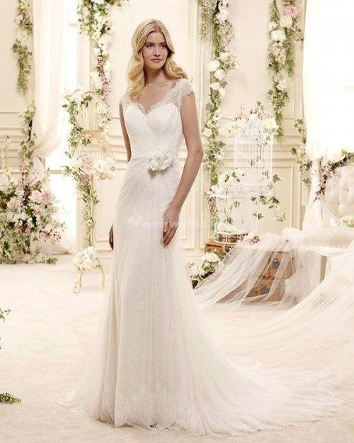 abito da sposa, stile scivolato 2