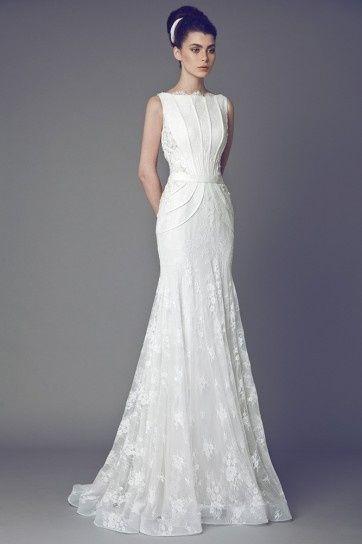 abito da sposa, stile scivolato 6