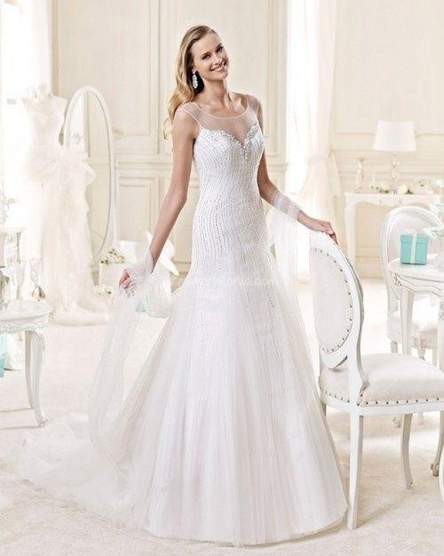 abito da sposa, stile scivolato 7