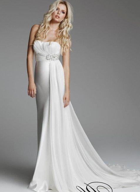 abito da sposa, stile scivolato 8