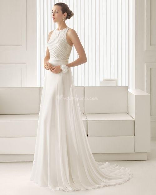 abito da sposa, stile scivolato 9
