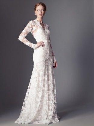 abito da sposa, stile scivolato 11