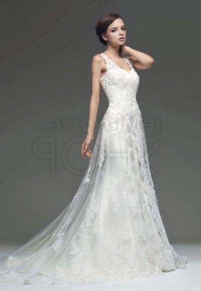 abito da sposa, stile scivolato 12