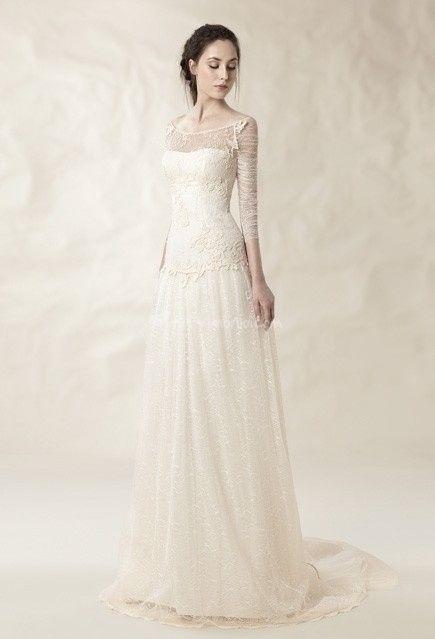 abito da sposa, stile scivolato 13
