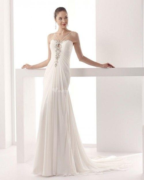 abito da sposa, stile scivolato 14