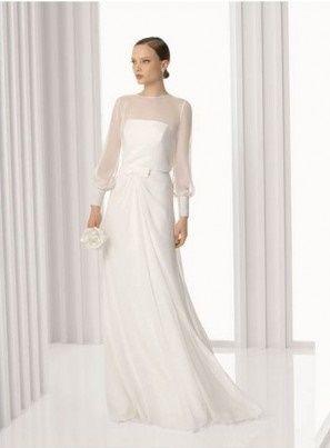 abito da sposa, stile scivolato 15