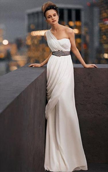 abito da sposa, stile scivolato 16