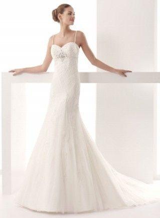 abito da sposa, stile scivolato 19
