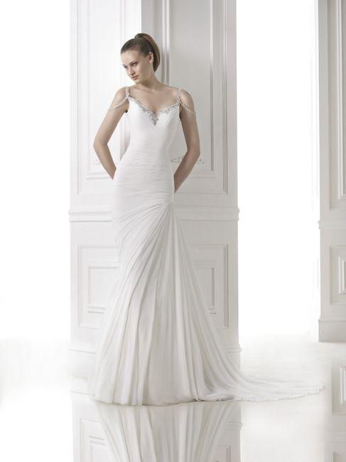 abito da sposa, stile scivolato 18