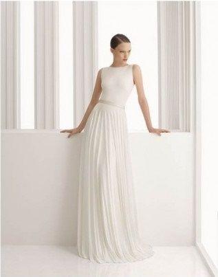 abito da sposa, stile scivolato 20