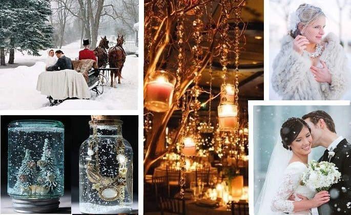 Amato Decorazioni nuziali matrimonio invernale/natalizio 5 - colori e  XT21