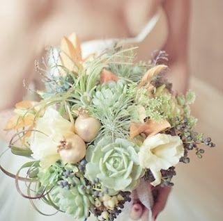 il bouquet della sposa, piante grasse