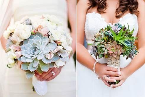 il bouquet della sposa, piante grasse 13