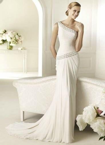 Abito da sposa, stile peplo, greco, divinità
