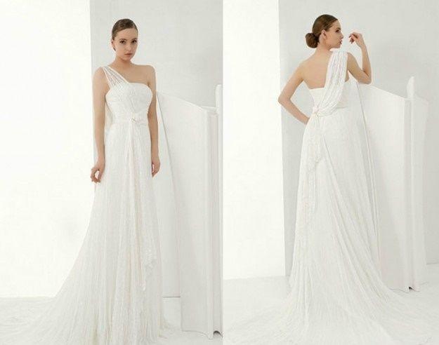 Matrimonio In Greco : Abito da sposa stile peplo greco pagina moda