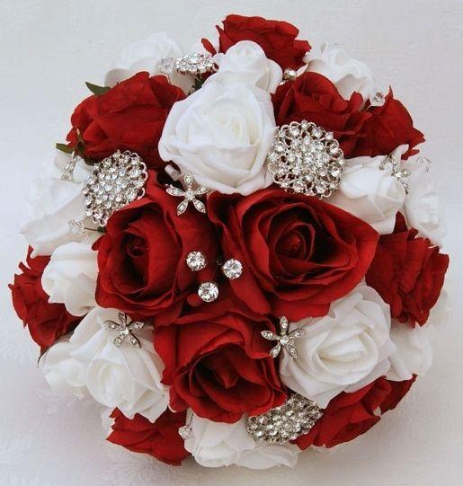 il bouquet della sposa, gioiello, colore rosso 1