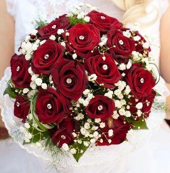 il bouquet della sposa, gioiello, colore rosso 2