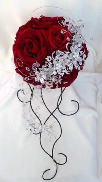 il bouquet della sposa, gioiello, colore rosso 3