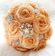 il bouquet della sposa, gioiello, colore arancione
