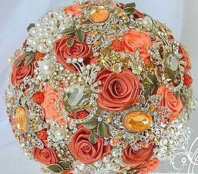 il bouquet della sposa, gioiello, colore arancione 1