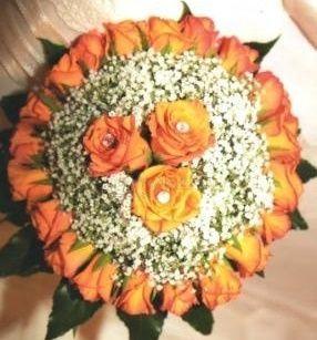 il bouquet della sposa, gioiello, colore arancione 3