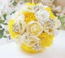 il bouquet della sposa, gioiello, colore giallo