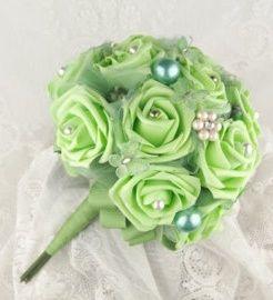 il bouquet della sposa, gioiello, colore verde 1