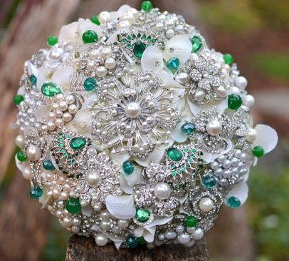 il bouquet della sposa, gioiello, colore verde 3