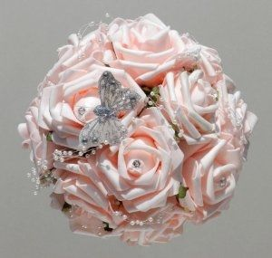 il bouquet della sposa, gioiello, colore rosa