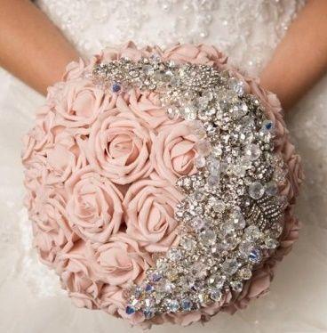 il bouquet della sposa, gioiello, colore rosa 4