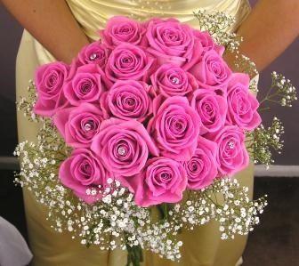 il bouquet della sposa, gioiello, colore fucsia