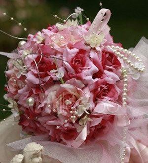 il bouquet della sposa, gioiello, colore fucsia 2