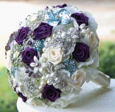 il bouquet della sposa, gioiello, colore glicine, viola 1