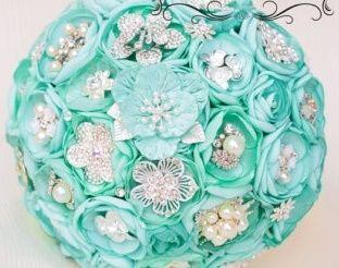 il bouquet della sposa, gioiello, colore tiffany