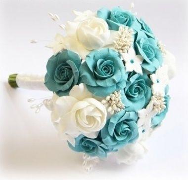 il bouquet della sposa, gioiello, colore tiffany 1