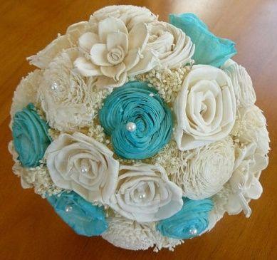 il bouquet della sposa, gioiello, colore tiffany 2