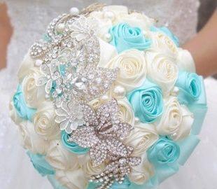 il bouquet della sposa, gioiello, colore tiffany 3