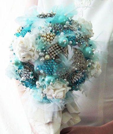il bouquet della sposa, gioiello, colore tiffany 4
