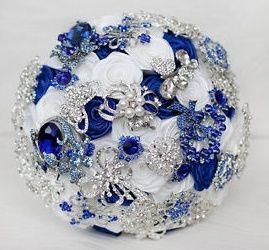 il bouquet della sposa, gioiello, colore blu