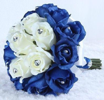 il bouquet della sposa, gioiello, colore blu 1