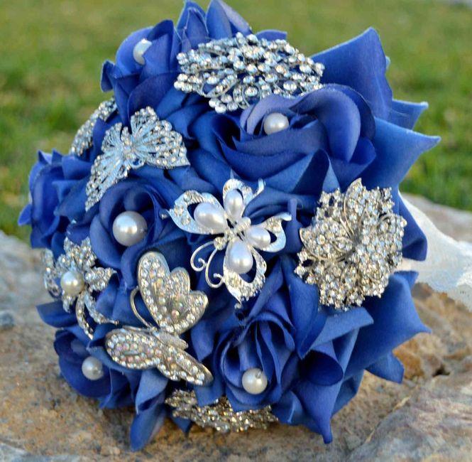 il bouquet della sposa, gioiello, colore blu 2