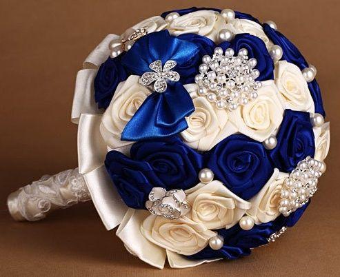 il bouquet della sposa, gioiello, colore blu 3