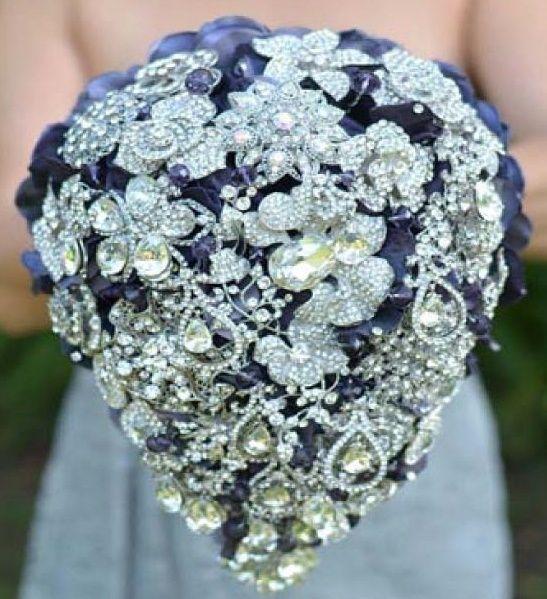 il bouquet della sposa, gioiello, colore blu 4