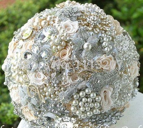 il bouquet della sposa, gioiello, colore argento 1