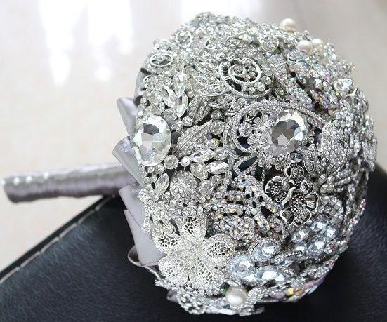 il bouquet della sposa, gioiello, colore argento 3