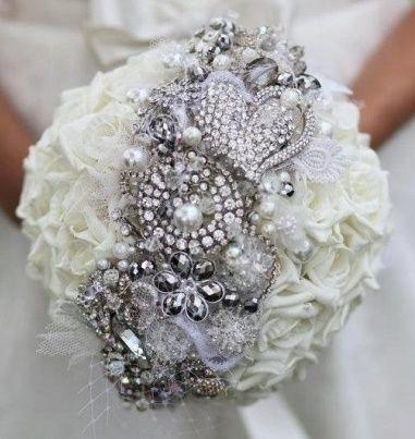 il bouquet della sposa, gioiello, colore argento 4
