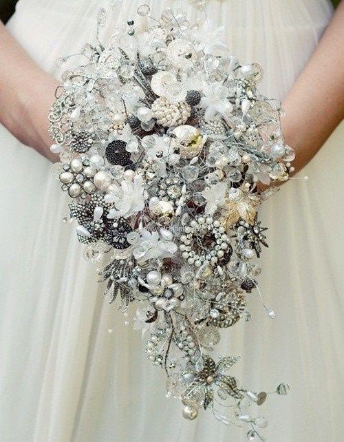 il bouquet della sposa, gioiello, colore argento 5