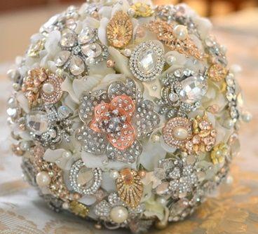 il bouquet della sposa, gioiello, colore oro 3
